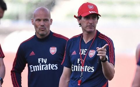 Unai Emery hails influence of Freddie Ljungberg at Arsenal after club's brightest young talents shine against Bayern