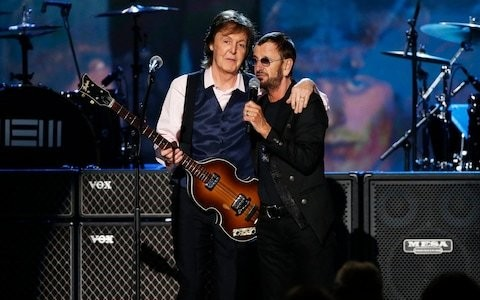 Ringo Starr and Paul McCartney reunite to record John Lennon song discovered on lost demo tape