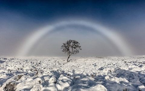 'Unbelievably beautiful' white rainbow captured in rare photo
