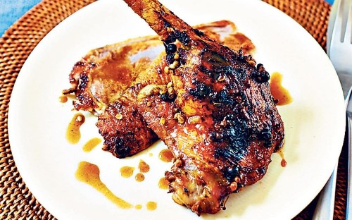 Roast duck with honey and spices