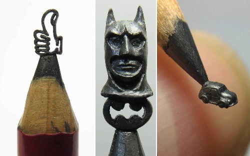 Artist creates sculptures out of pencil lead, in pictures