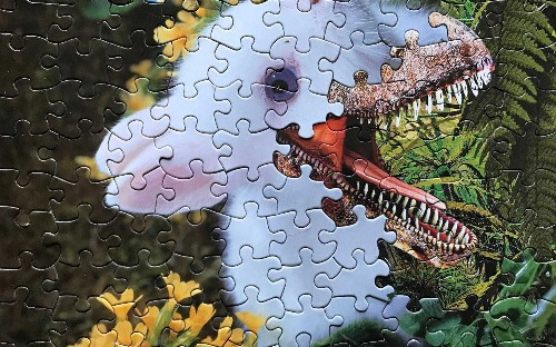 Juxtaposed jigsaw art, in pictures