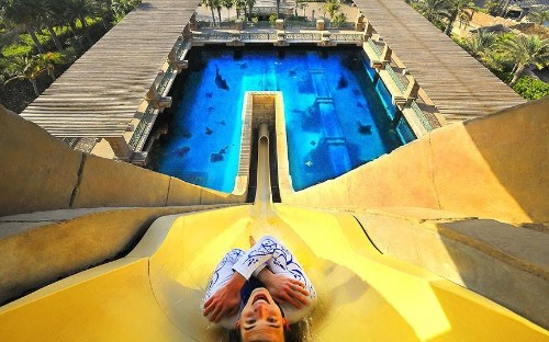 Amazing hotel water slides