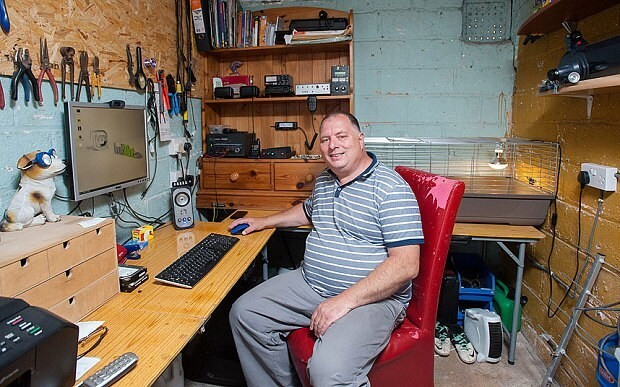 Radio ham talks to space station from garden shed