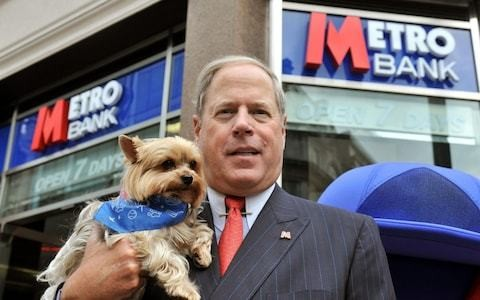Metro Bank founder Vernon Hill steps down as chairman with immediate effect