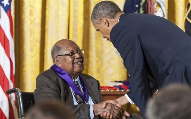 President Obama honours George Lucas