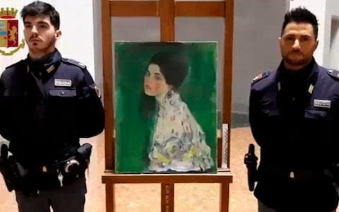 Painting found stashed inside Italian gallery walls may be stolen Klimt