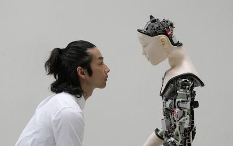 AI: More than Human review, Barbican: fascinating questions, robotic answers