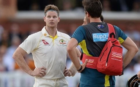 Steve Smith major doubt for third Test in Headlingley after Australian batsman suffers delayed reaction to blow to neck