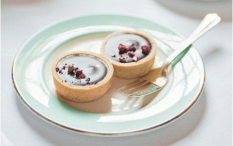 Hazelnut ganache pastry tarts