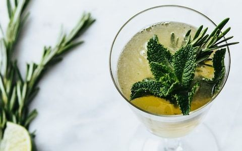 Non-alcoholic lime and cucumber CBD cocktail recipe