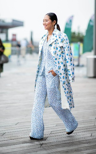 From pyjama sets to double denim, the chicest street style looks from New York Fashion Week