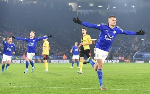 Jamie Vardy closes in on his own record as in-form Leicester see off typically toothless Watford