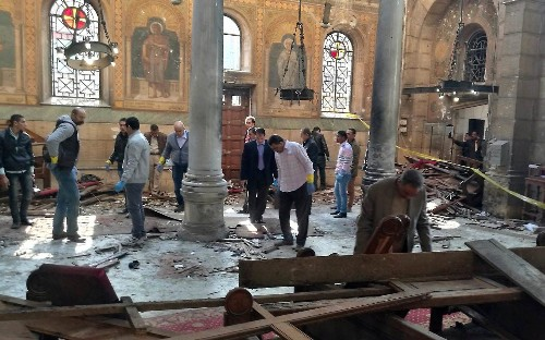 'The dead were everywhere' - 23 Coptic Christians killed in bomb attack on chapel complex