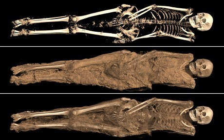 1,300 year-old mummy and her intimate tattoo