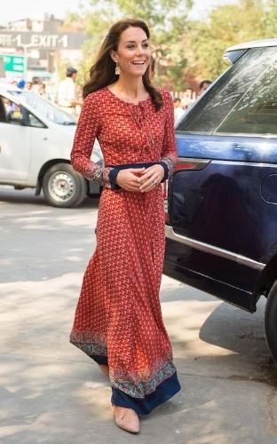 The Duchess of Cambridge wears £50 dress from Glamorous to visit New Delhi's street children