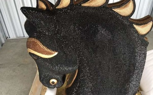 New Zealand police find record cocaine haul inside diamante-encrusted horse head