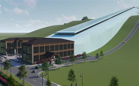Plans revealed for America's largest indoor ski slope - on a landfill