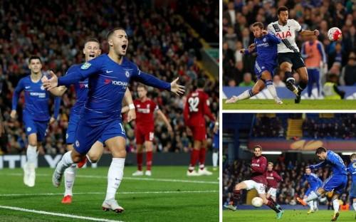 Where does Eden Hazard's sensational solo goal against Liverpool rank among his best for Chelsea?