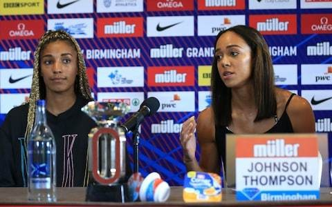 Katarina Johnson-Thompson and greatest rival Nafissatou Thiam size each other up on the road to Doha
