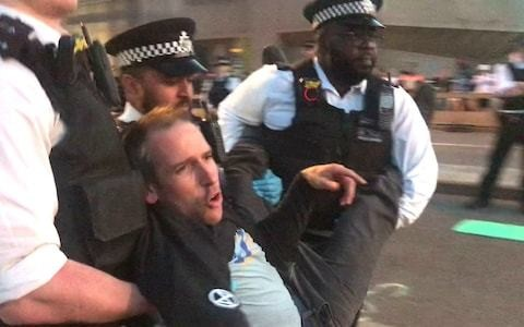 London 2012 Olympian arrested as police clear Waterloo Bridge after Extinction Rebellion protests