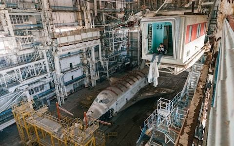 Remains of forgotten Soviet space shuttle photographed by urban explorer