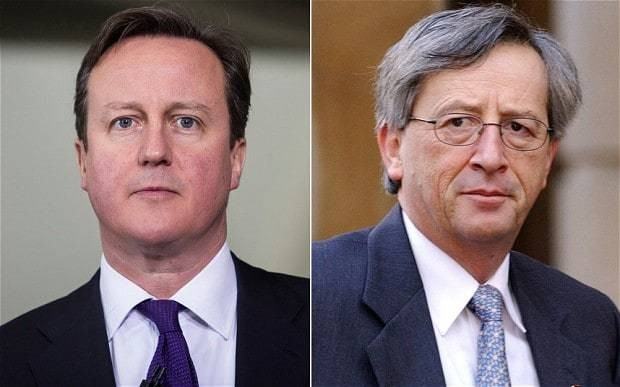 David Cameron taunted by Jean-Claude Juncker over 'lack of common sense'