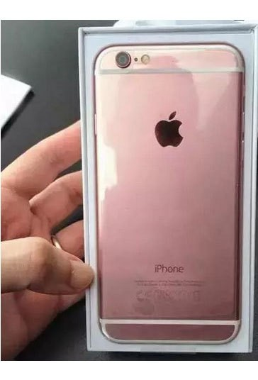 'Leaked' pictures of pink iPhone 6s surface online