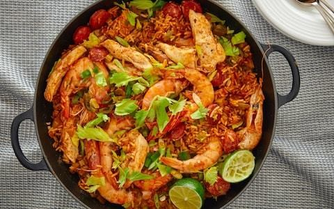 Chicken and prawn jambalaya recipe