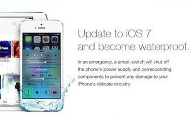iOS 7: users destroy iPhones after fake waterproof advert