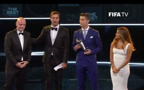 The Best Fifa Football Awards 2016: Cristiano Ronaldo wins best in show as Claudio Ranieri and Liverpool carry the torch for English game
