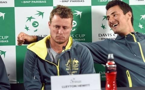Australian tennis row escalates as Lleyton Hewitt accuses Bernard Tomic of threatening him