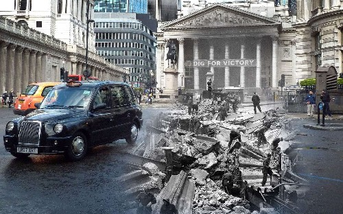 Then and now: London during the Blitz, in pictures