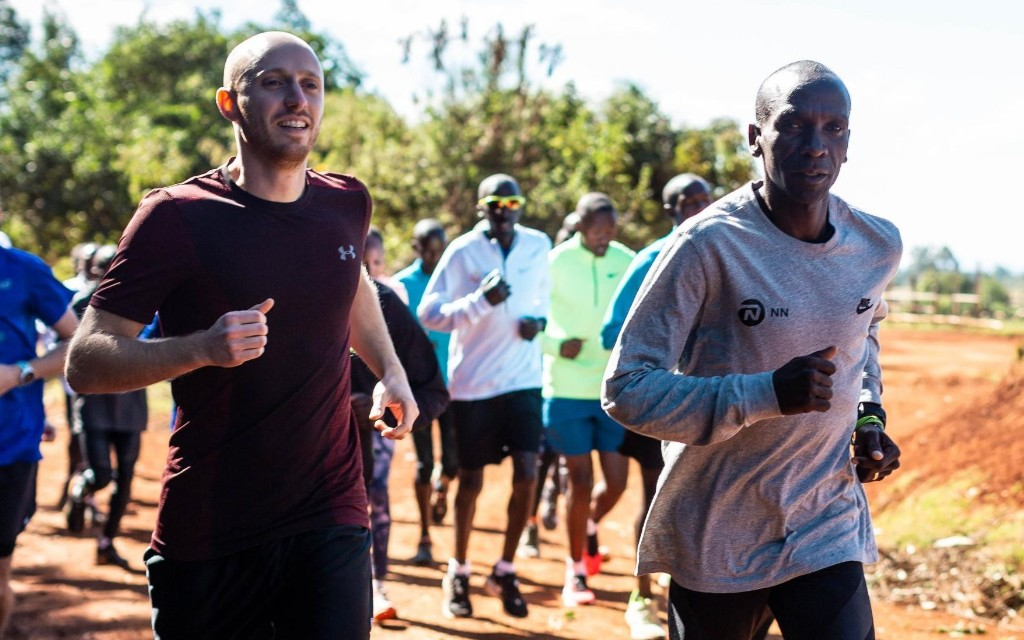 A run with Eliud Kipchoge: Avoiding cows and battling high altitude to train with the world's best