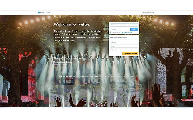 Twitter experiments with new home page in UK