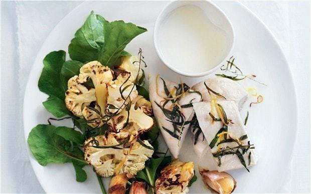 Roasted cauliflower and chicken salad recipe
