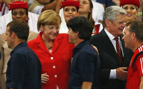 Angela Merkel's World Cup: German Chancellor joins in the celebrations  - Telegraph