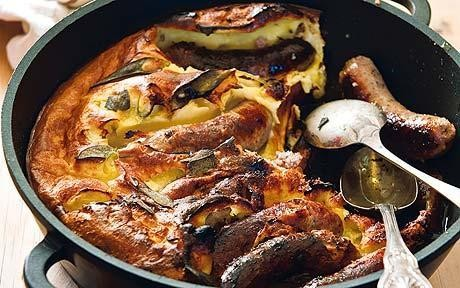 Sarah Raven's toad-in-the-hole with sage recipe