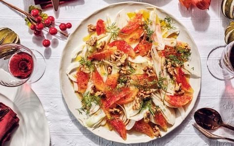 Blood orange, fennel and walnut salad recipe