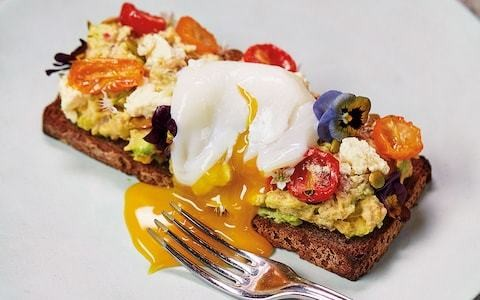 Crushed avocado, cherry tomatoes and feta on toast recipe