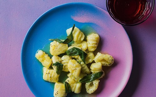 Potato gnocchi with sage and pecorino