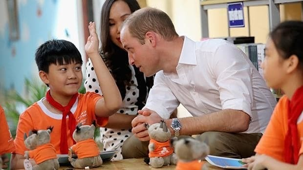 Prince William arrives in Vietnam for wildlife meeting