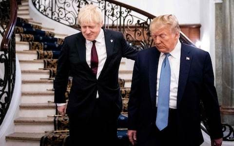 Donald Trump insists Boris Johnson is 'right man' to deliver Brexit as leaders meet at G7 summit