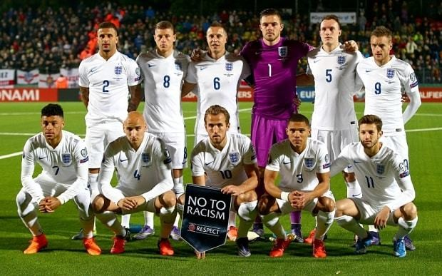 How did the England players rate in Lithuania?