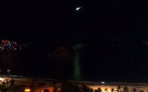 Meteor lights up Mexico City sky