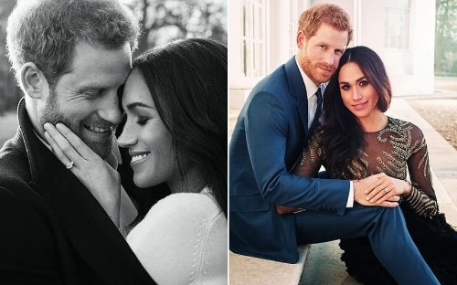Prince Harry and Meghan Markle release romantic photos to mark engagement