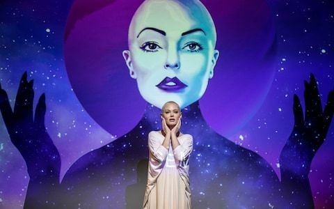 Rose McGowan: Planet 9 review, Assembly Hall, Edinburgh Fringe: a bonkers trip to another world with the #MeToo silence breaker