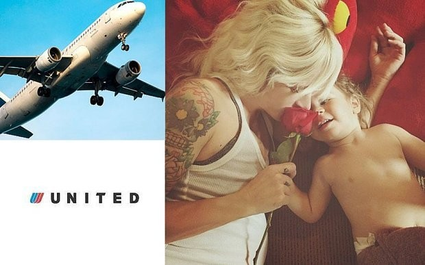United Airlines cabin crew 'kick pregnant singer off plane because of her crying toddler'