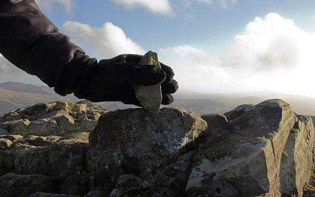 Artist who took 1in rock off Scafell Pike's summit 'vandalised' England's highest mountain