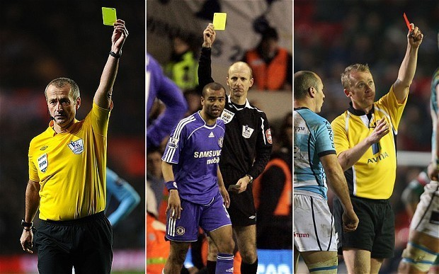 Premier League and Six Nations referees discuss diving, goal-line technology and receiving abuse